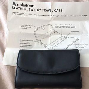 Brookstone Leather jewelry travel case